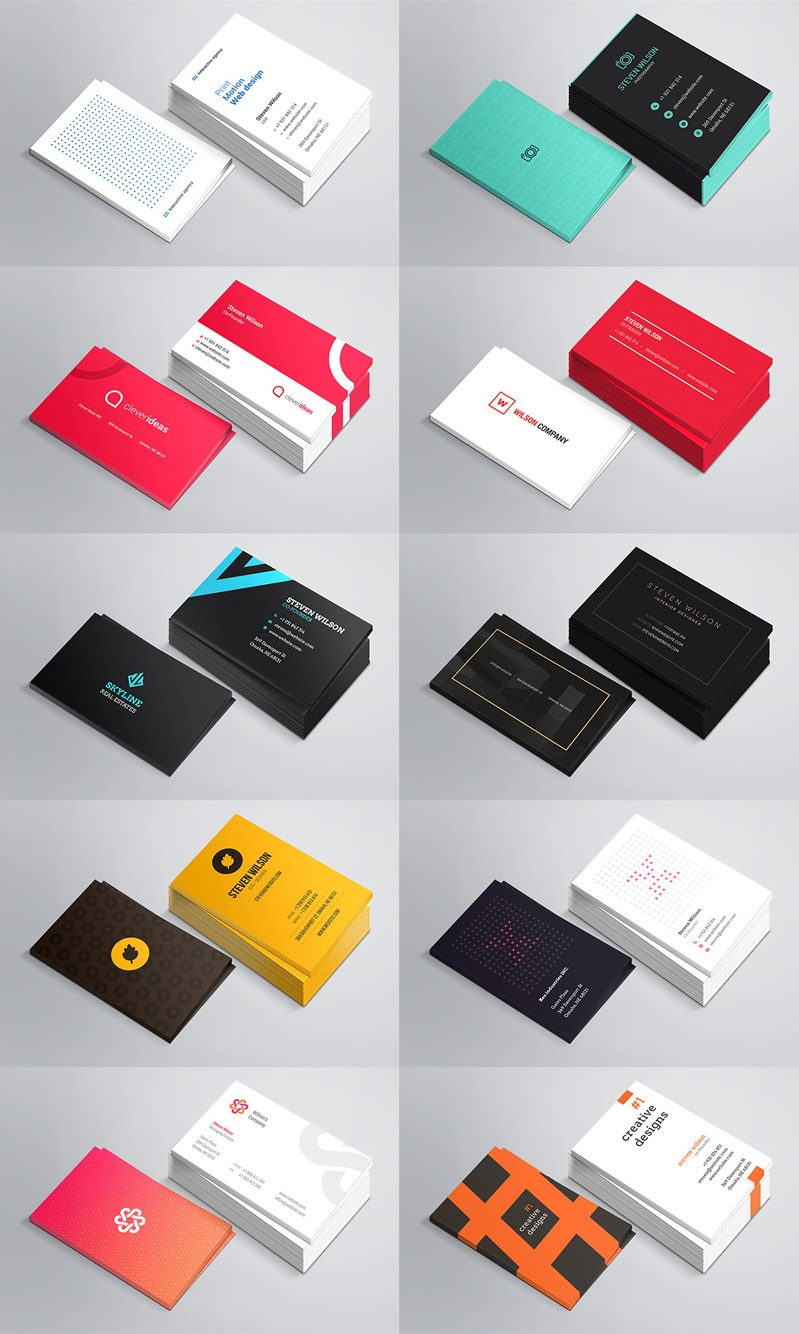 10 mini business cards preview