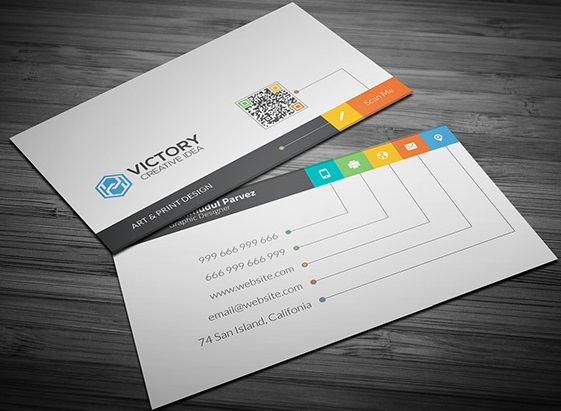 Creative business card free psd template clean minimalistic flat clear clean business card wajeb