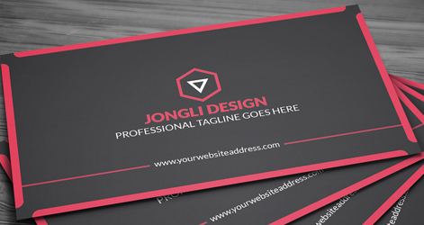 Modern corporate business card psd template in red and black lucasoft modern corporate business card preview 1 wajeb Images