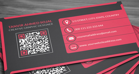 Modern corporate business card psd template in red and black lucasoft modern corporate business card preview 2 wajeb Images