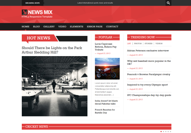 News mix free html5 and css3 wordpress green theme aimed at news home page news mix preview maxwellsz